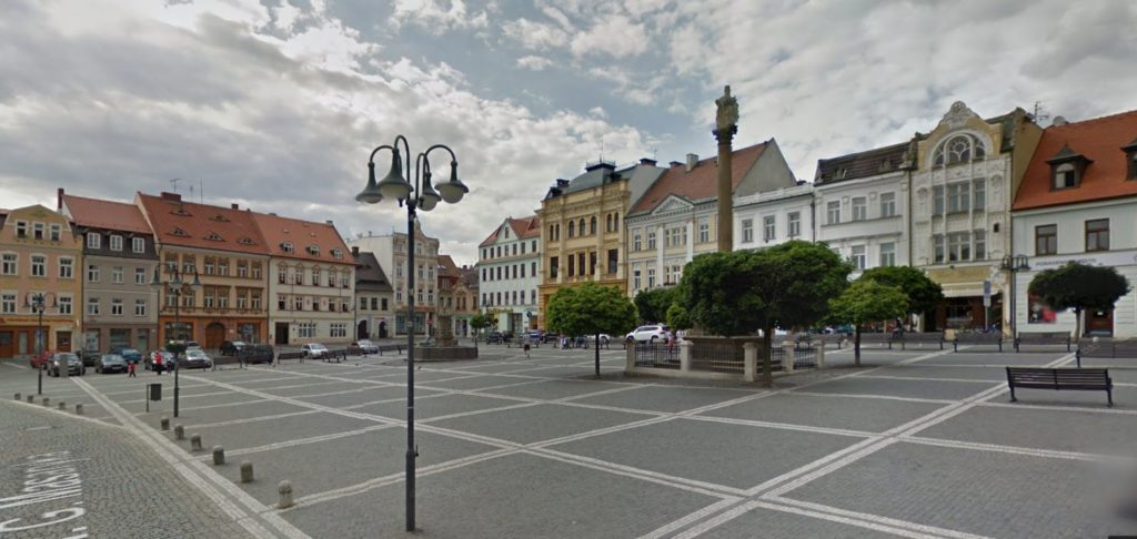 Návěstí v České Lípě - zde jezdí TAXI Veselý
